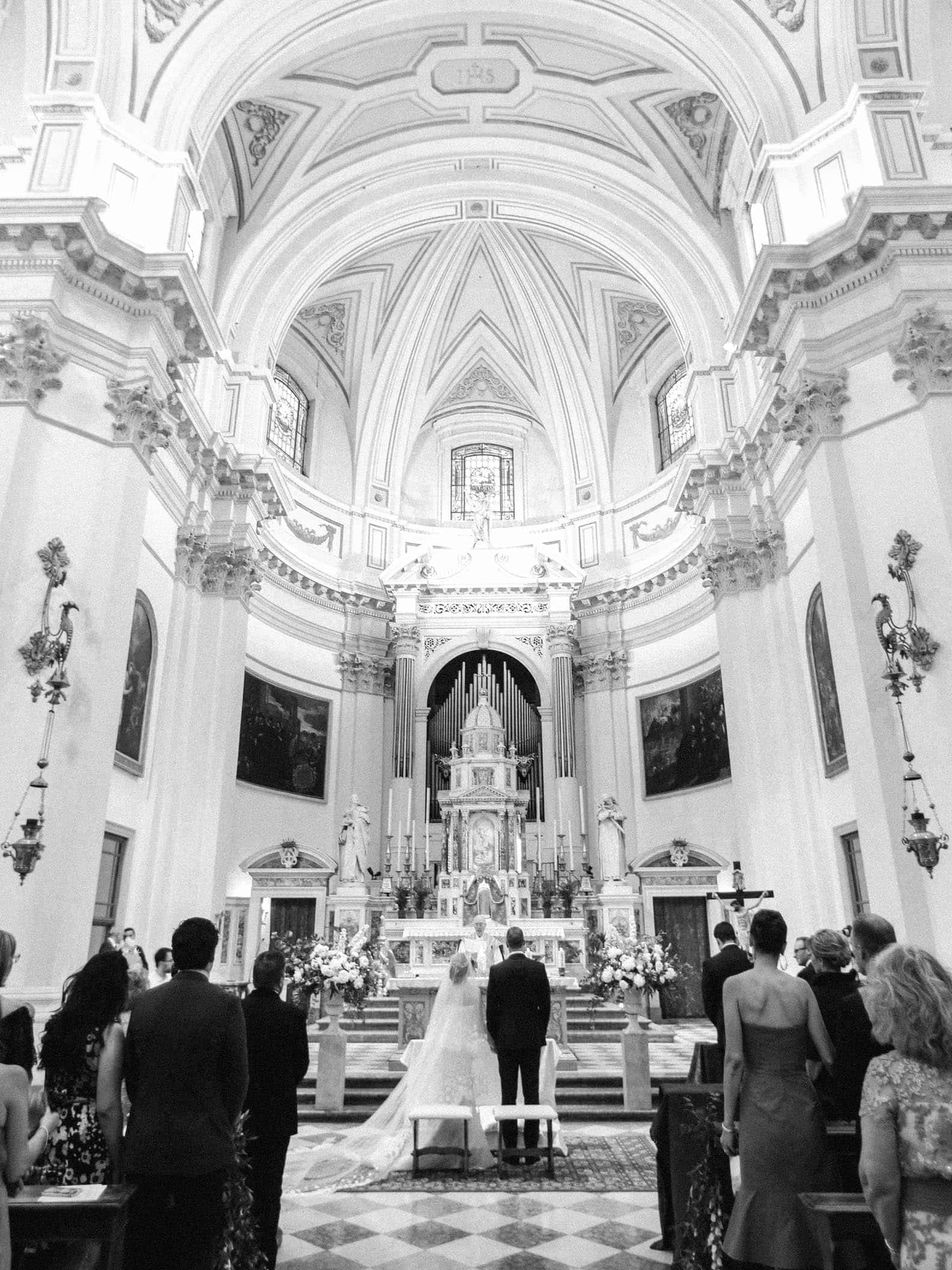 the church of Vicenza during a catholic mass