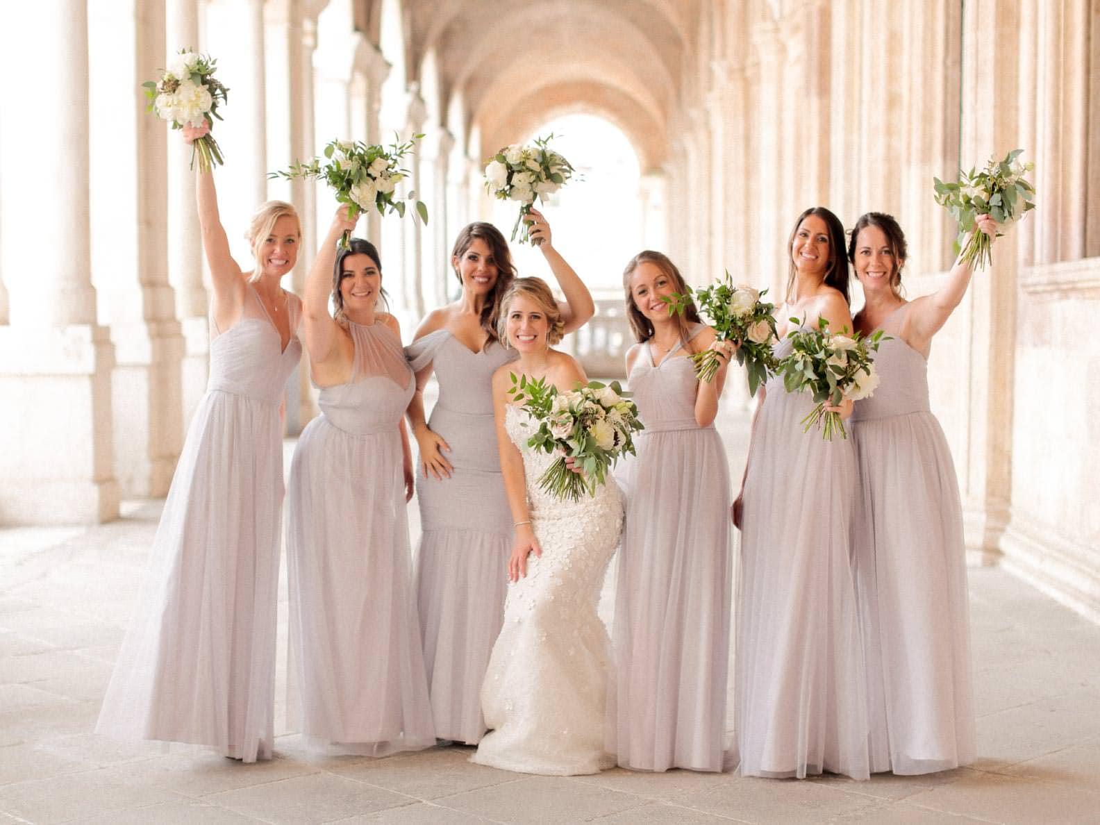 bridesmaid at the palladian basilica in vicenza