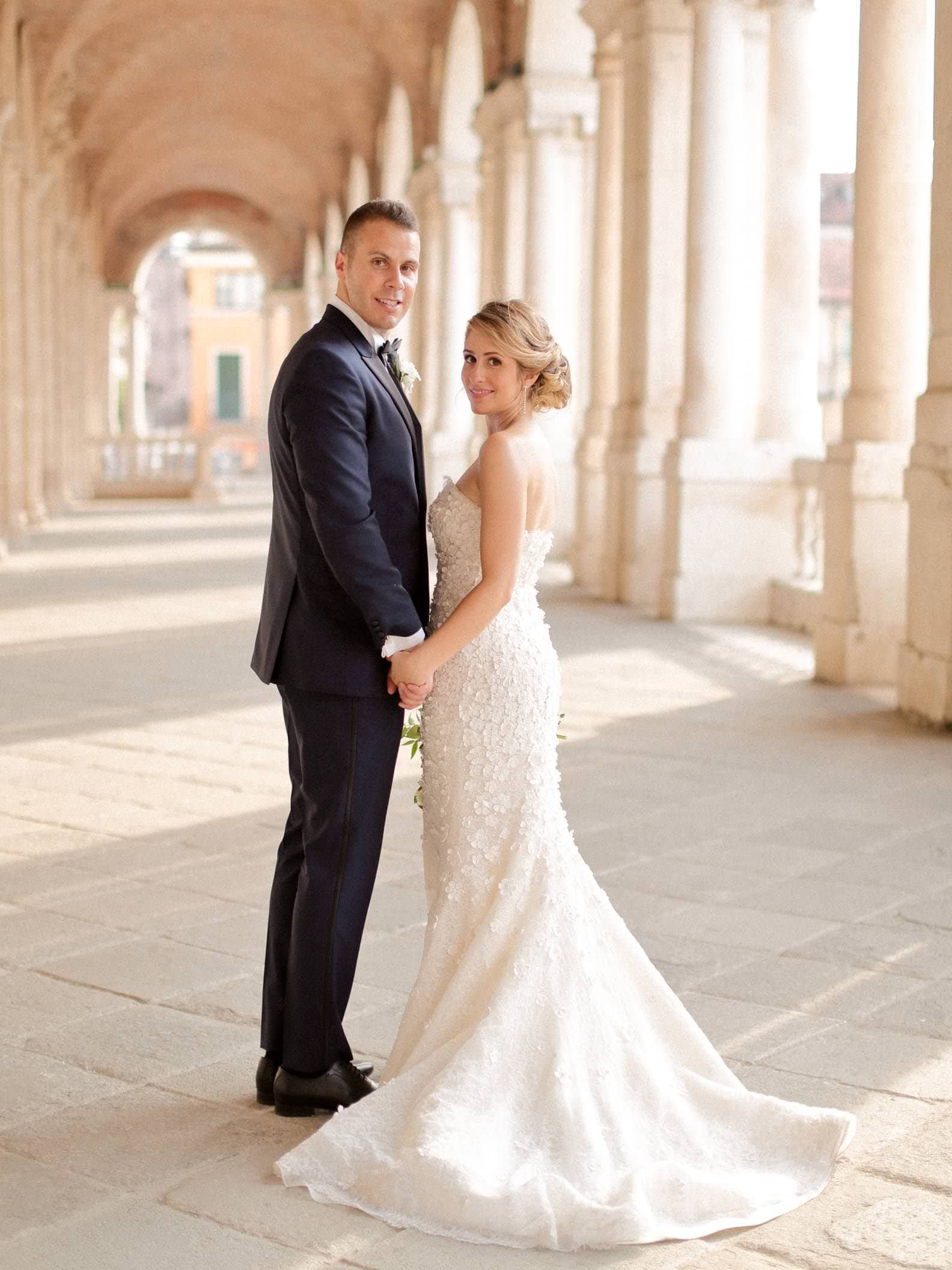 couple portrait at the palladian basilica in vicenza