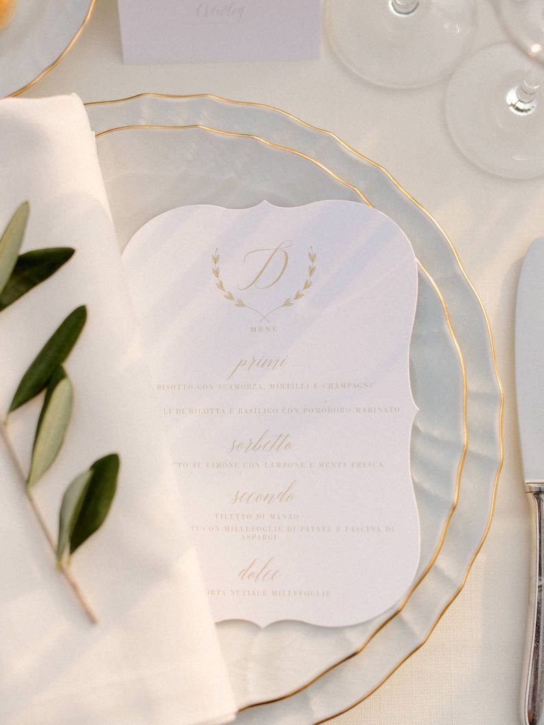 detail of the table decor