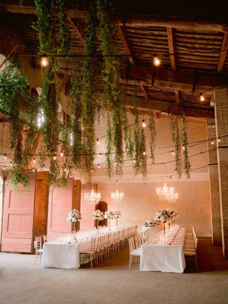 the great Vill'as limonaia wedding dinner set