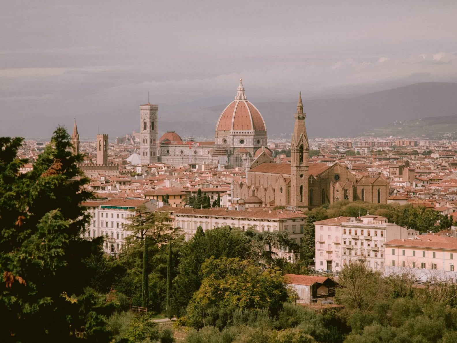 The Duomo of Florence from the Villa la Vedetta's terrace