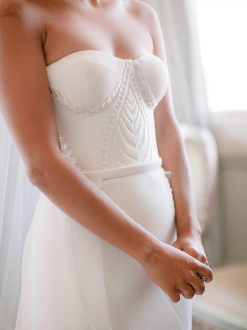 bridal wedding dress detail