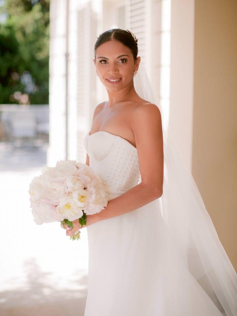 the bride at the villa la vedetta wedding venue in florence