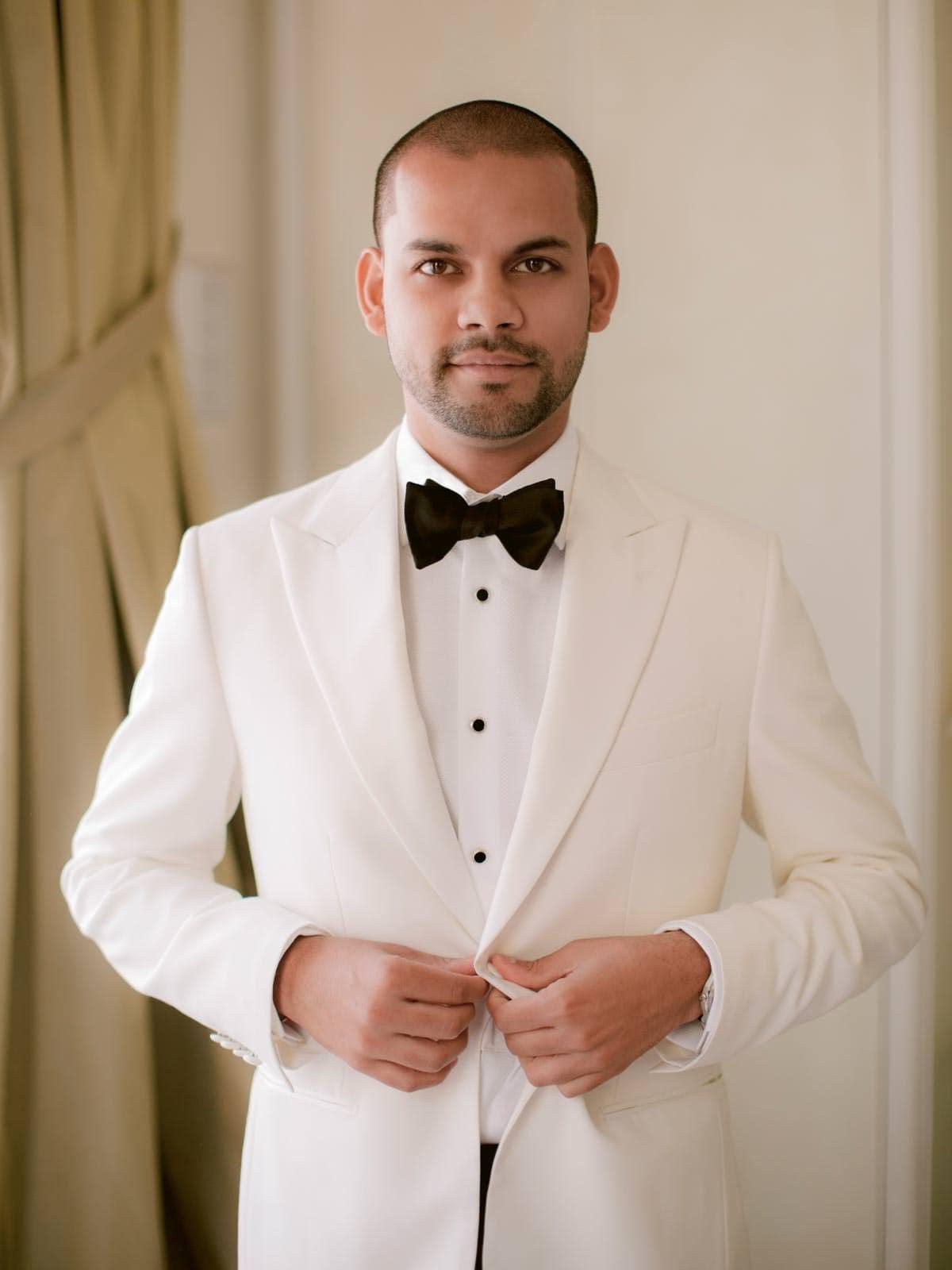 modern elegant groom's suit