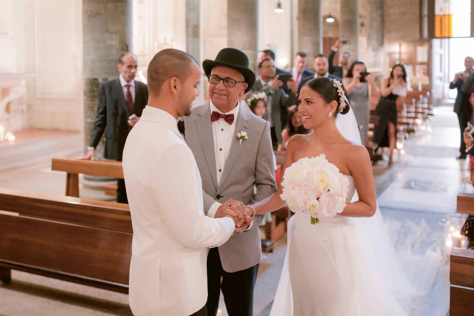catholic wedding ceremony in florence