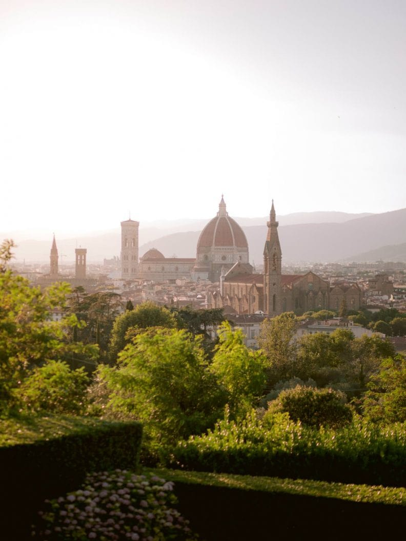 sunset view on florentine Duomo