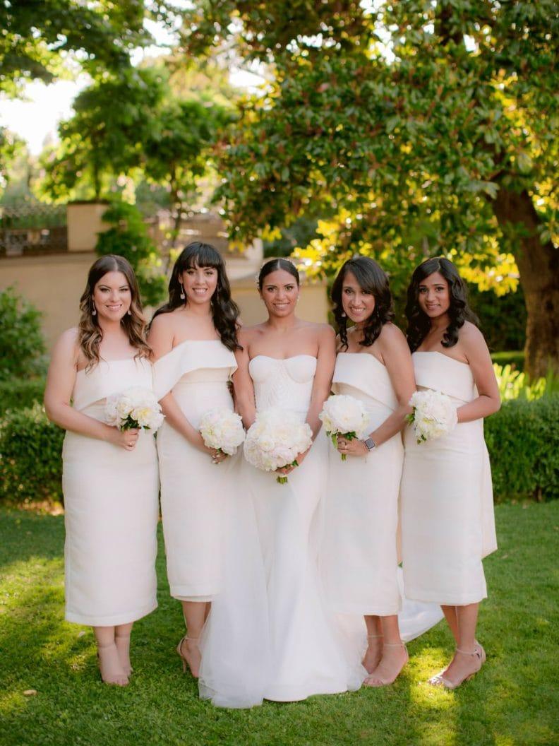 bridal party during the wedding reception at villa la vedetta