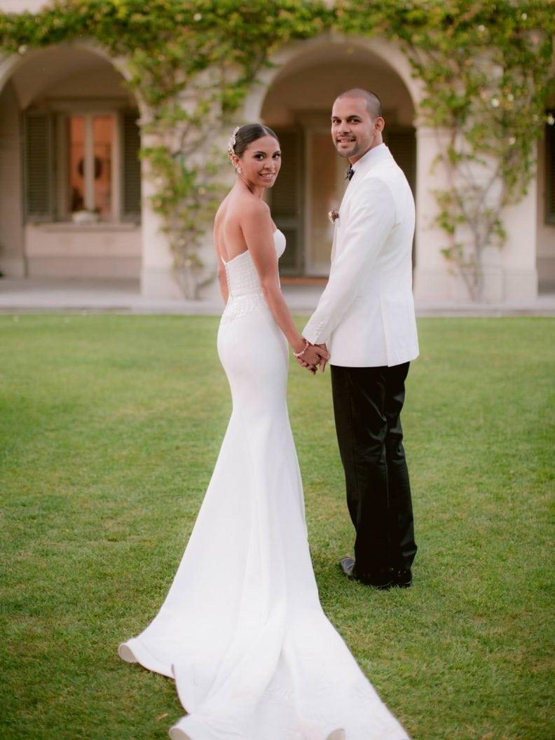 bride and groom at villa la vedetta