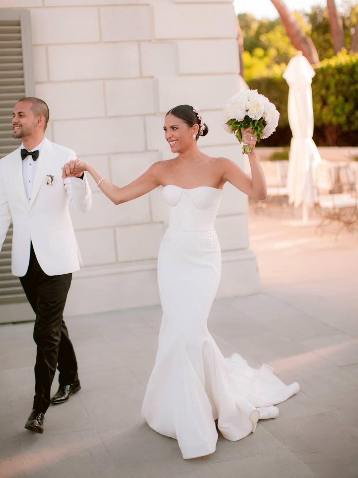 bride and groom big entrance