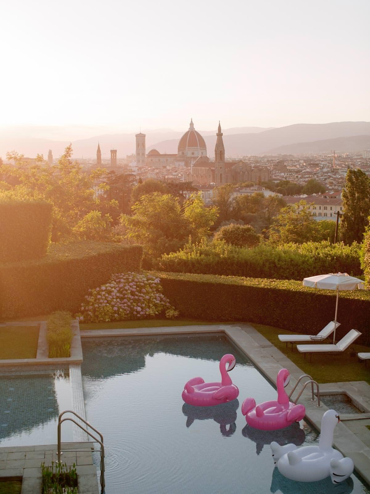 stunning view from the Villa la Vedetta's terrace