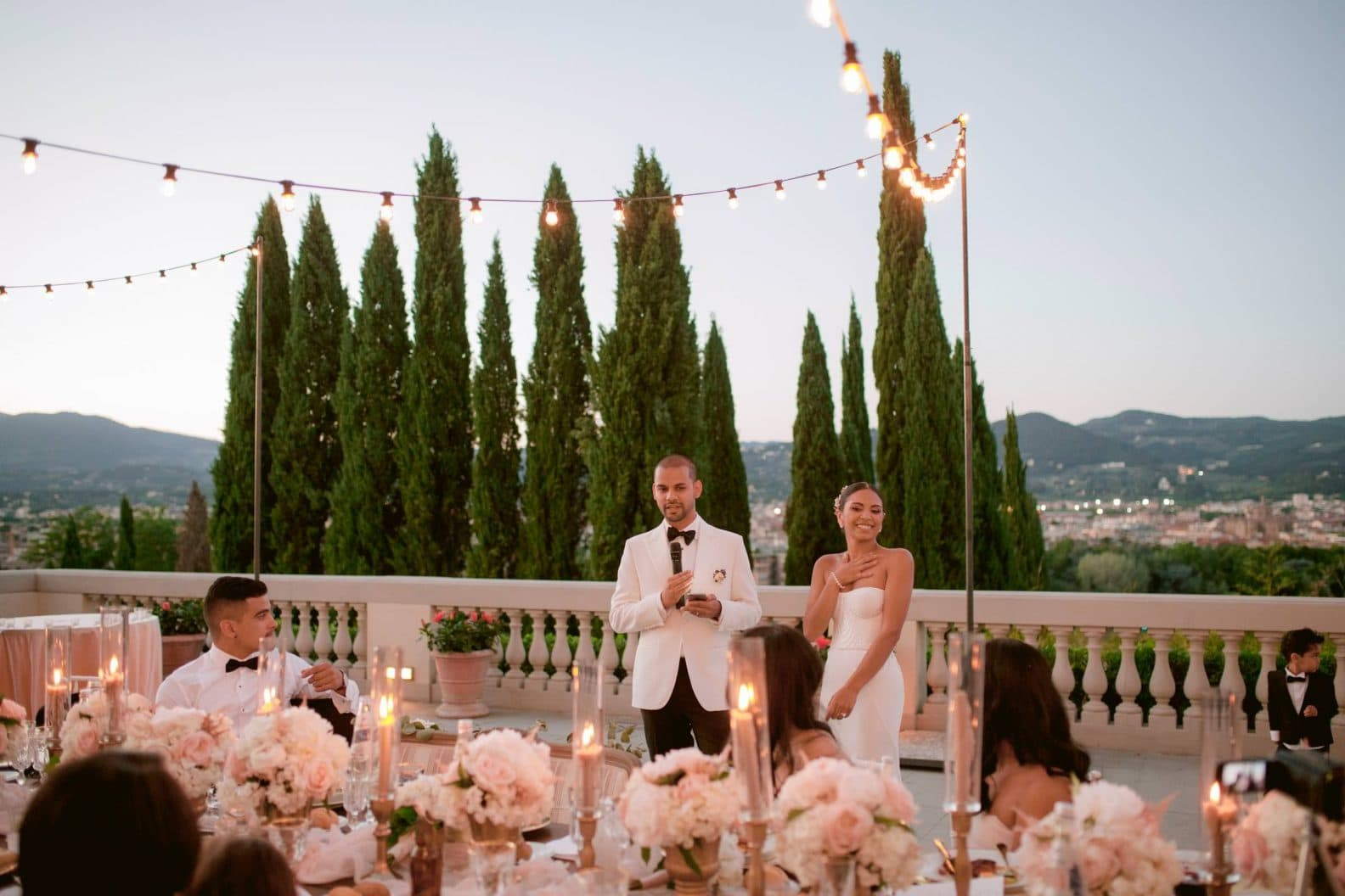 groom's speech during the reception