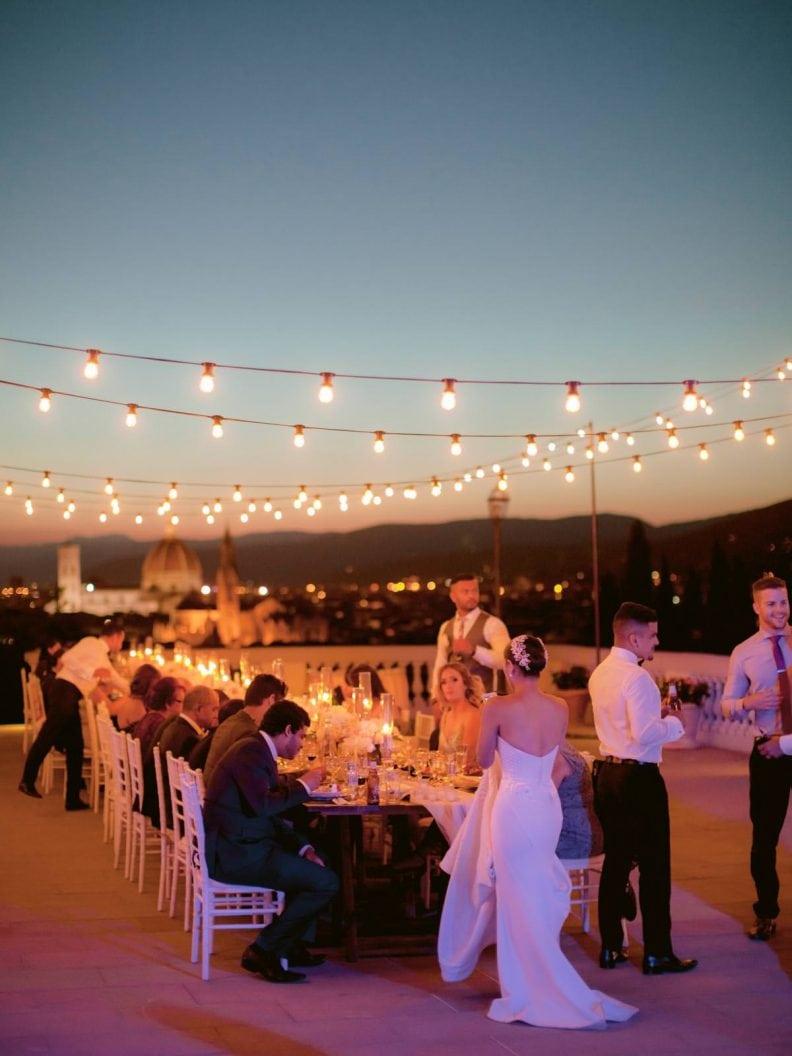 wedding dinner outdoor of the villa la vedetta