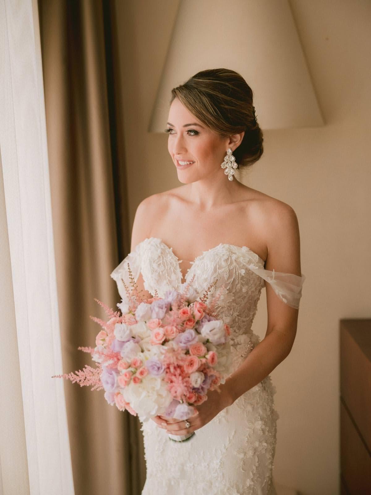 the beautiful Hadeel in her wedding gown