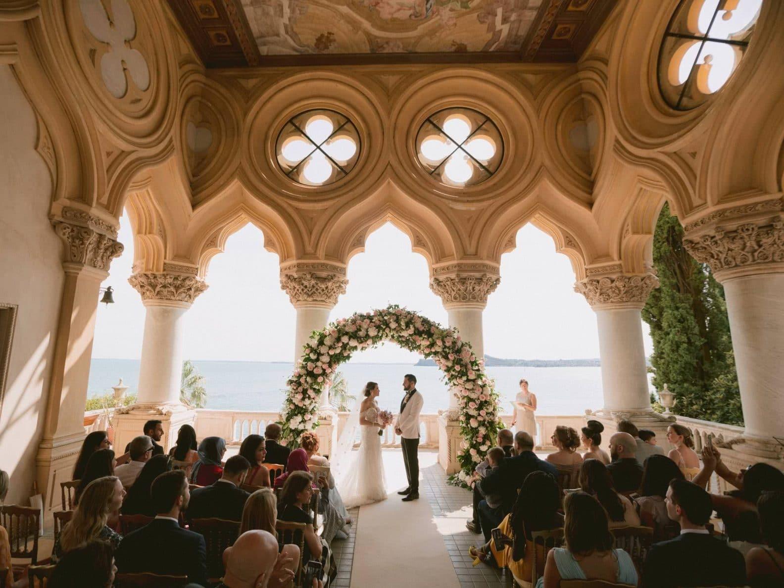 stunning wedding ceremony on the Garda Lake