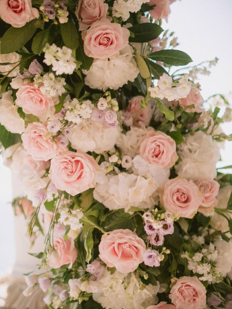 a detail from this incredible wedding flowers arch