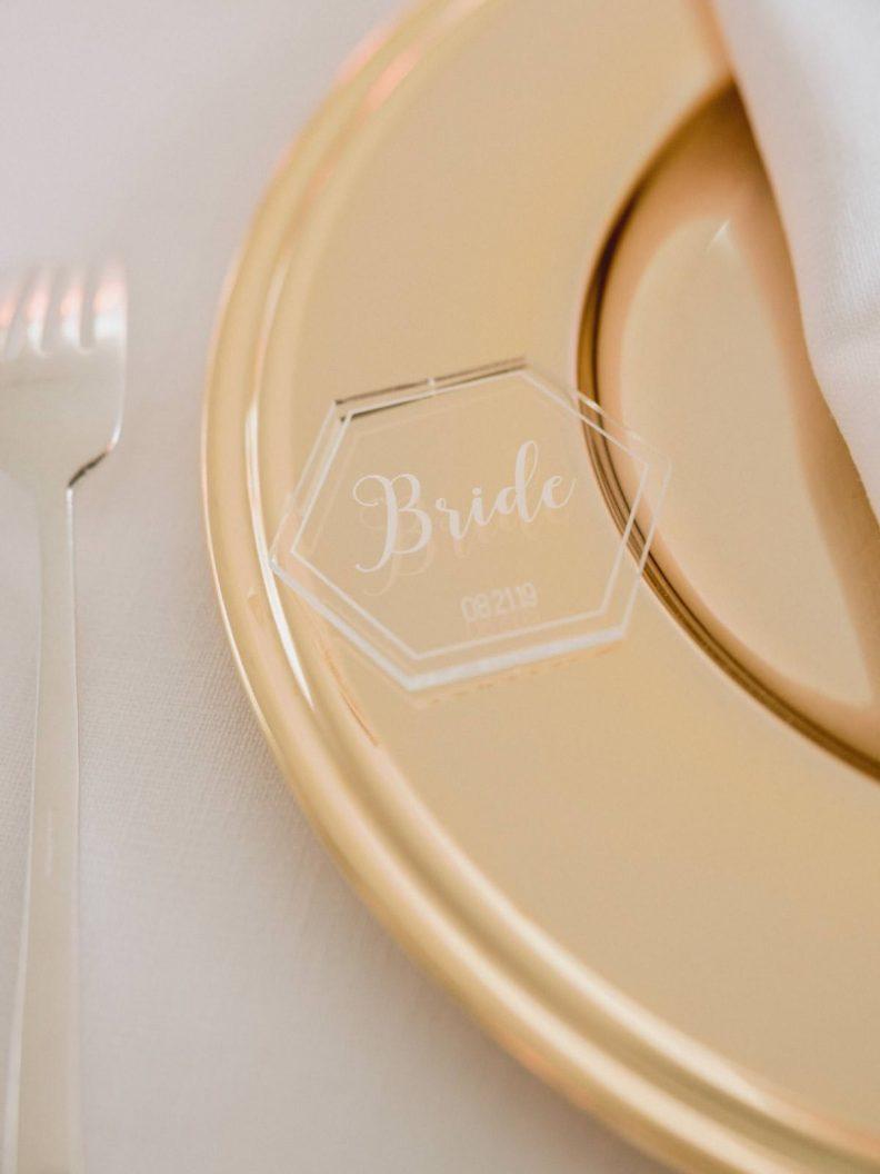 wedding dinner table setting detail