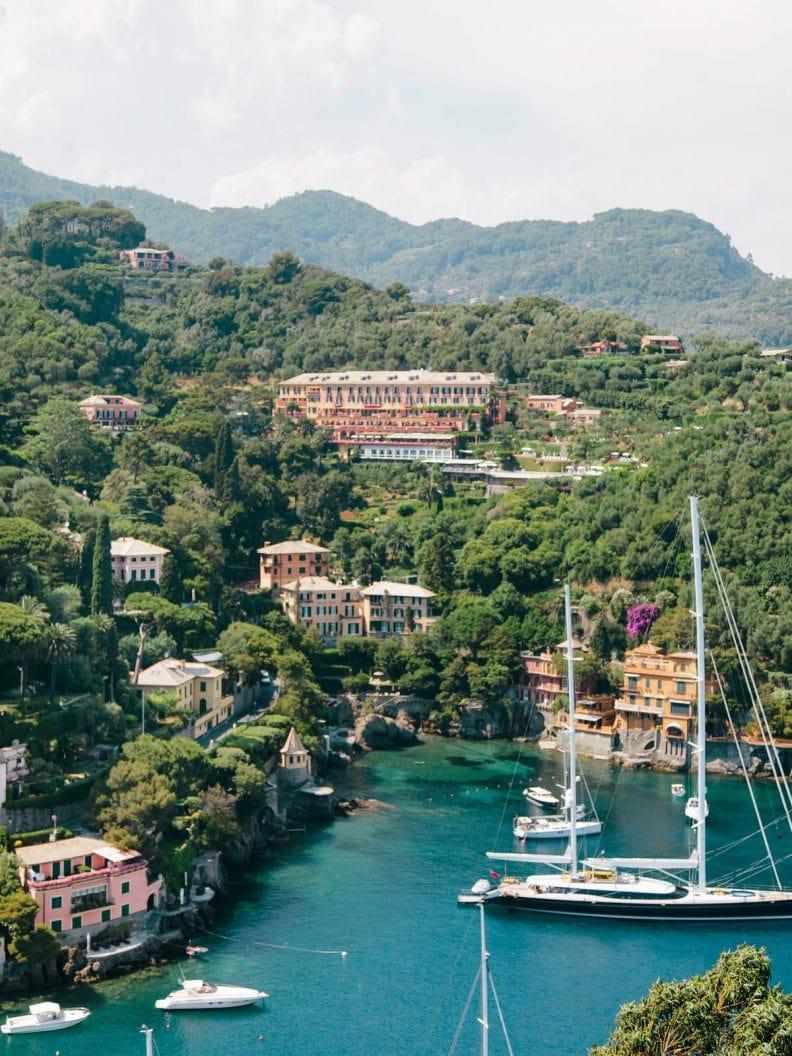 an incredible view of Portofino Bay