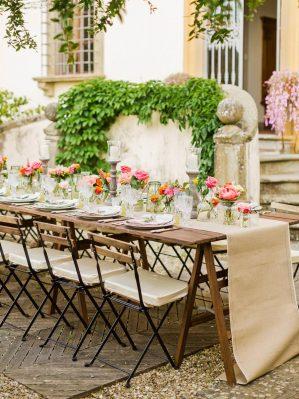 decor for reception al fresco in Florence