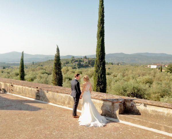 wedding photo on the terrace