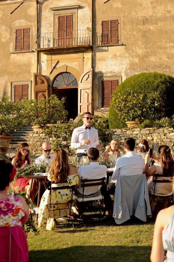speech of the groom at sunset