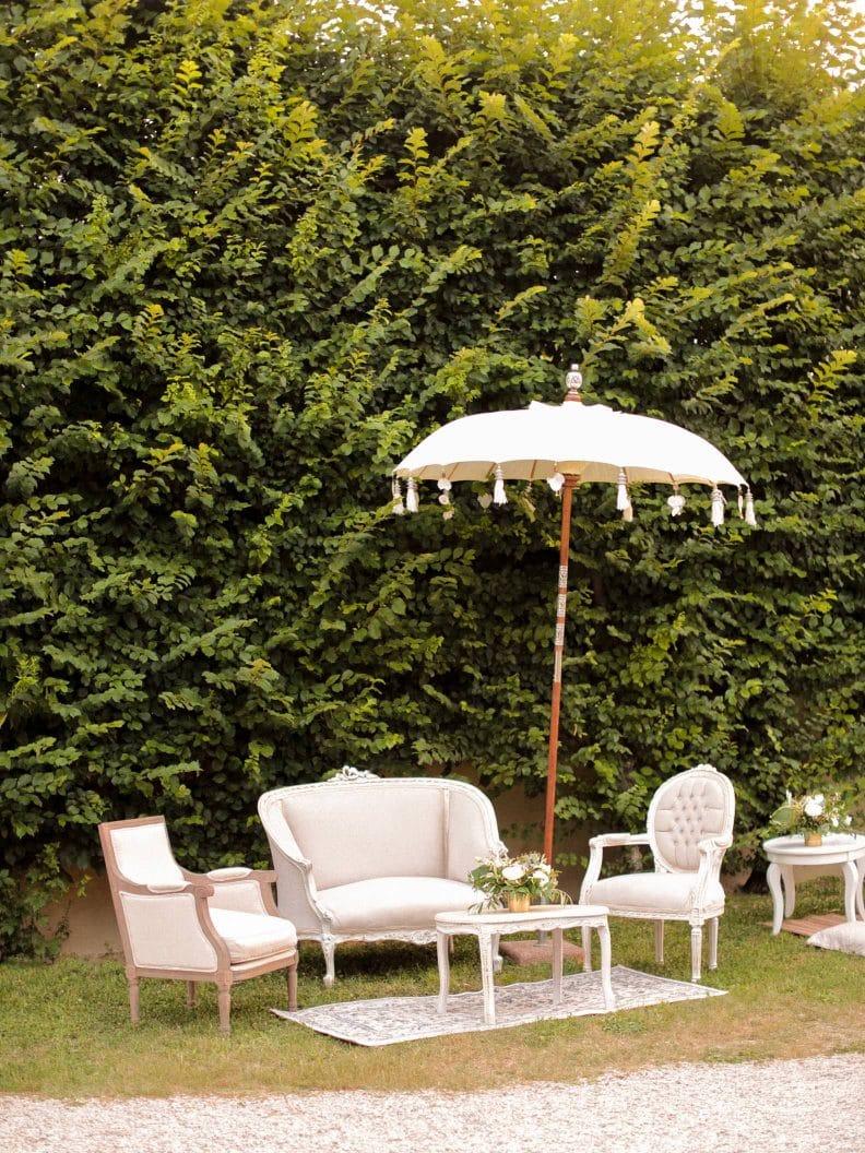 decor at the villa in veneto