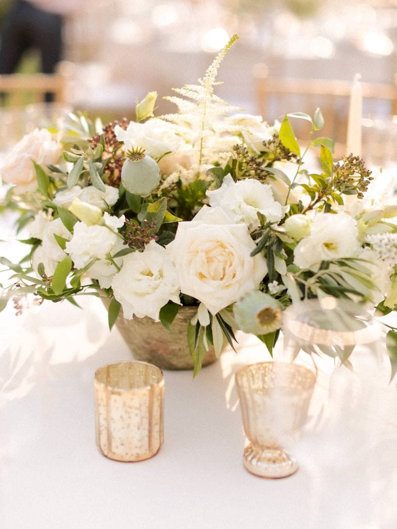 detail of the table setting for wedding reception