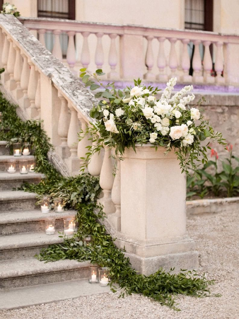 decoration on the stairs