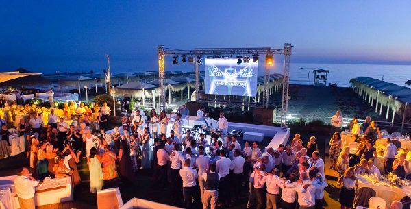 reception at beach club versilia