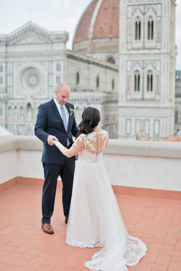 first look with a view in Florence