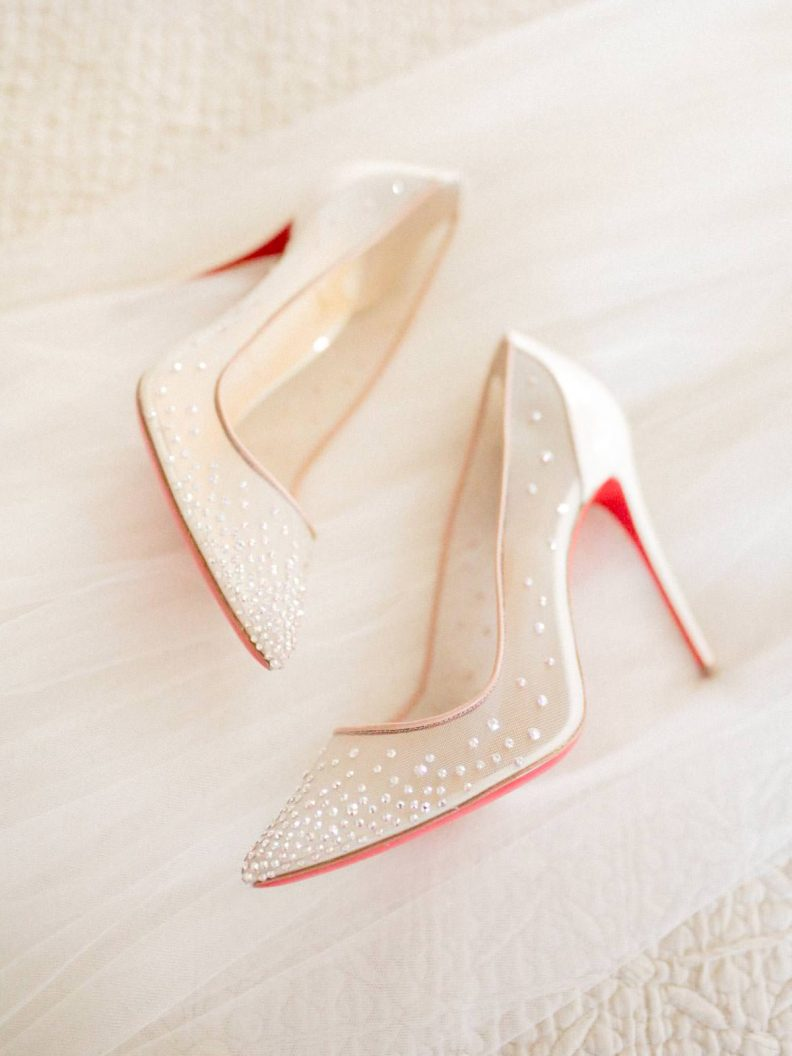 louboutin shoes on the veil