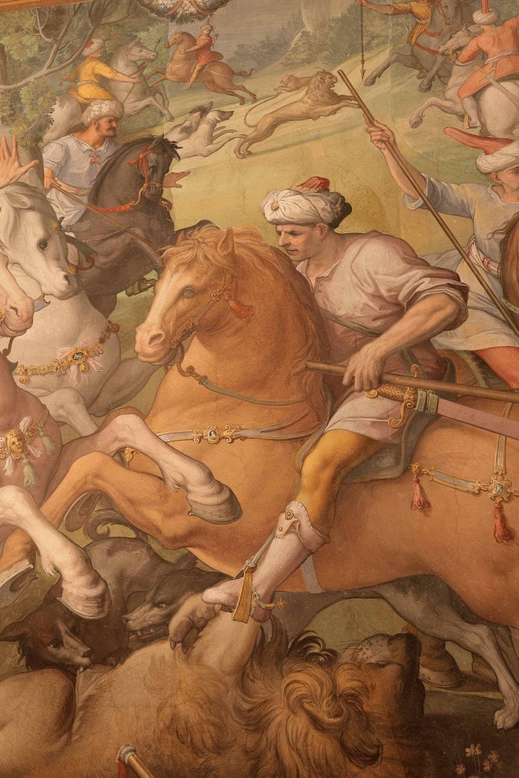 the frescoes at palazzo capponi in florence