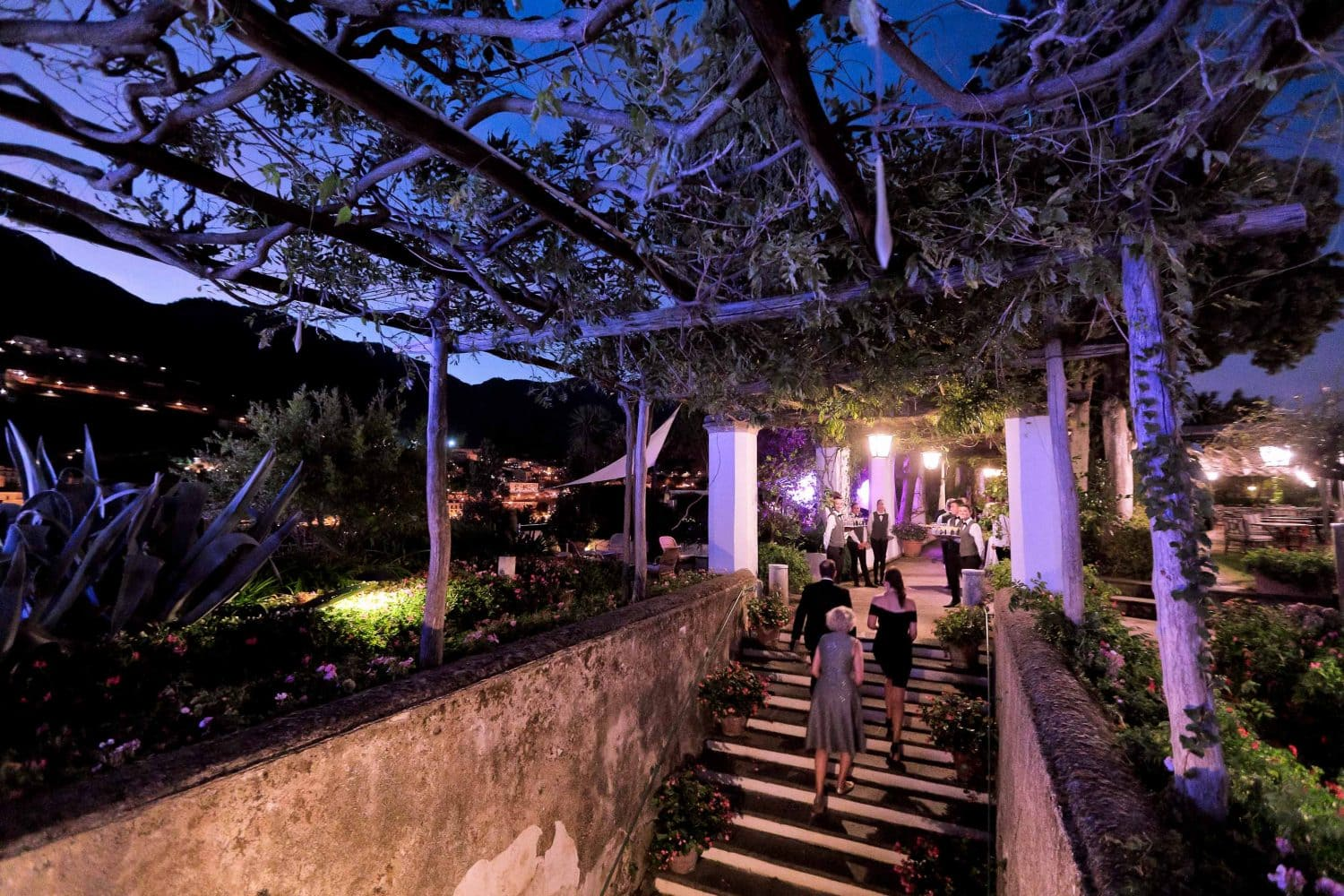 the entrance to the garden of belmond hotel caruso