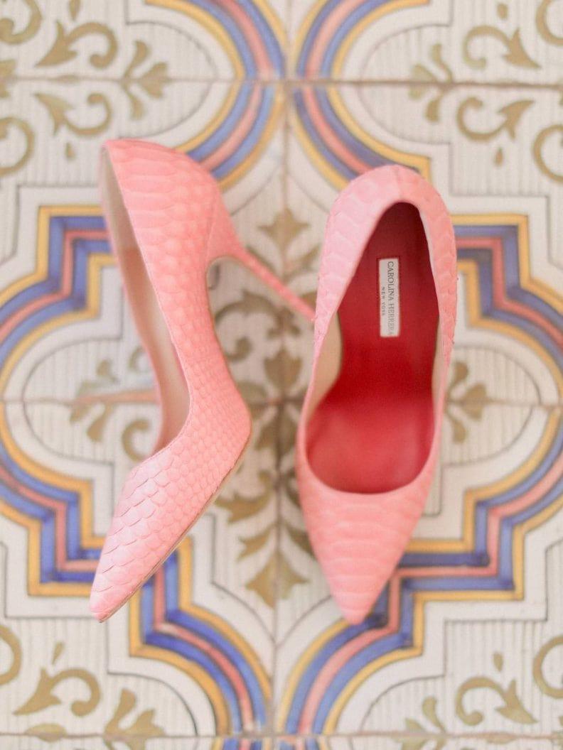 carolina herrera pink shoes