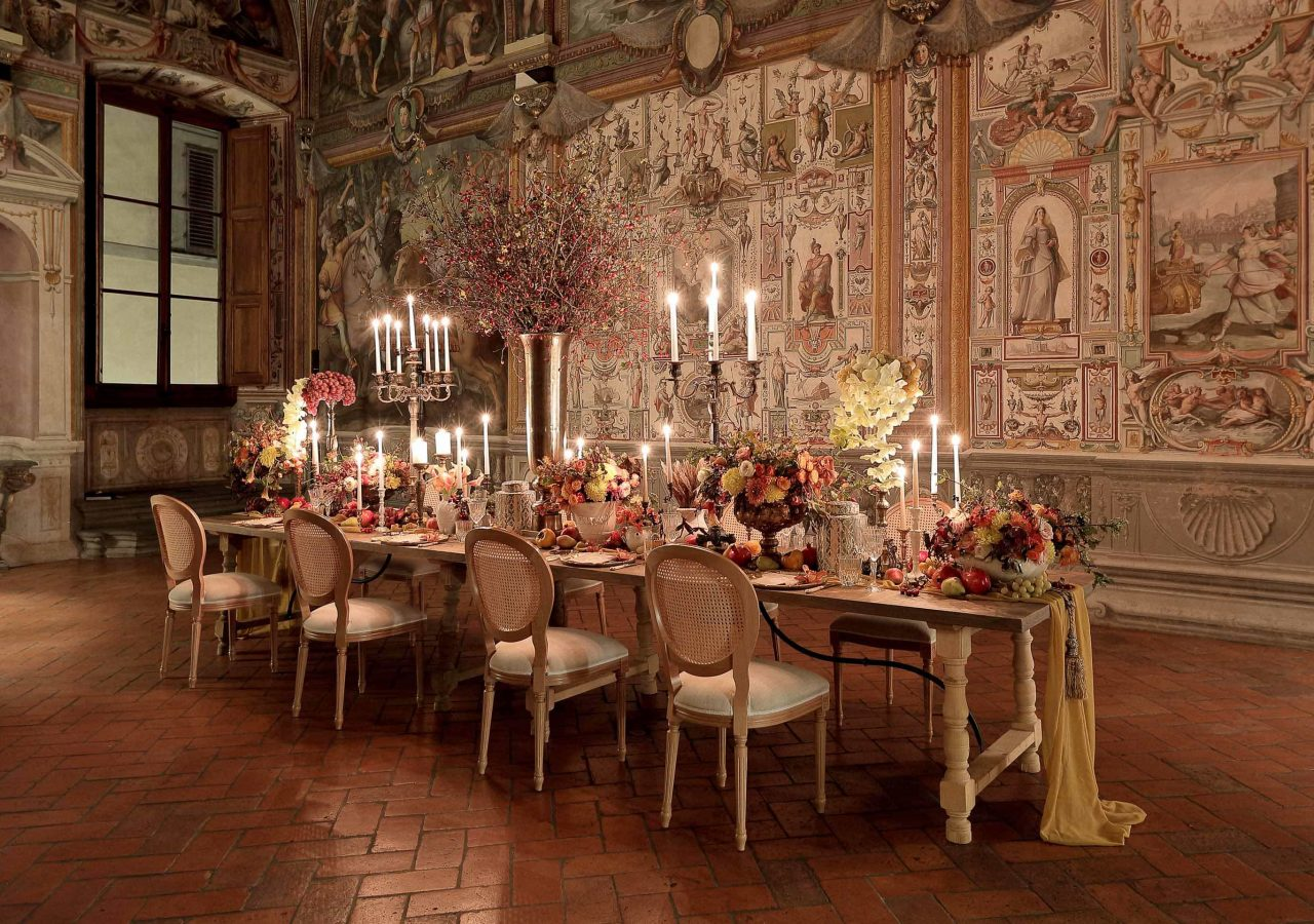 setting by michelle durpetti events at palazzo capponi in florence