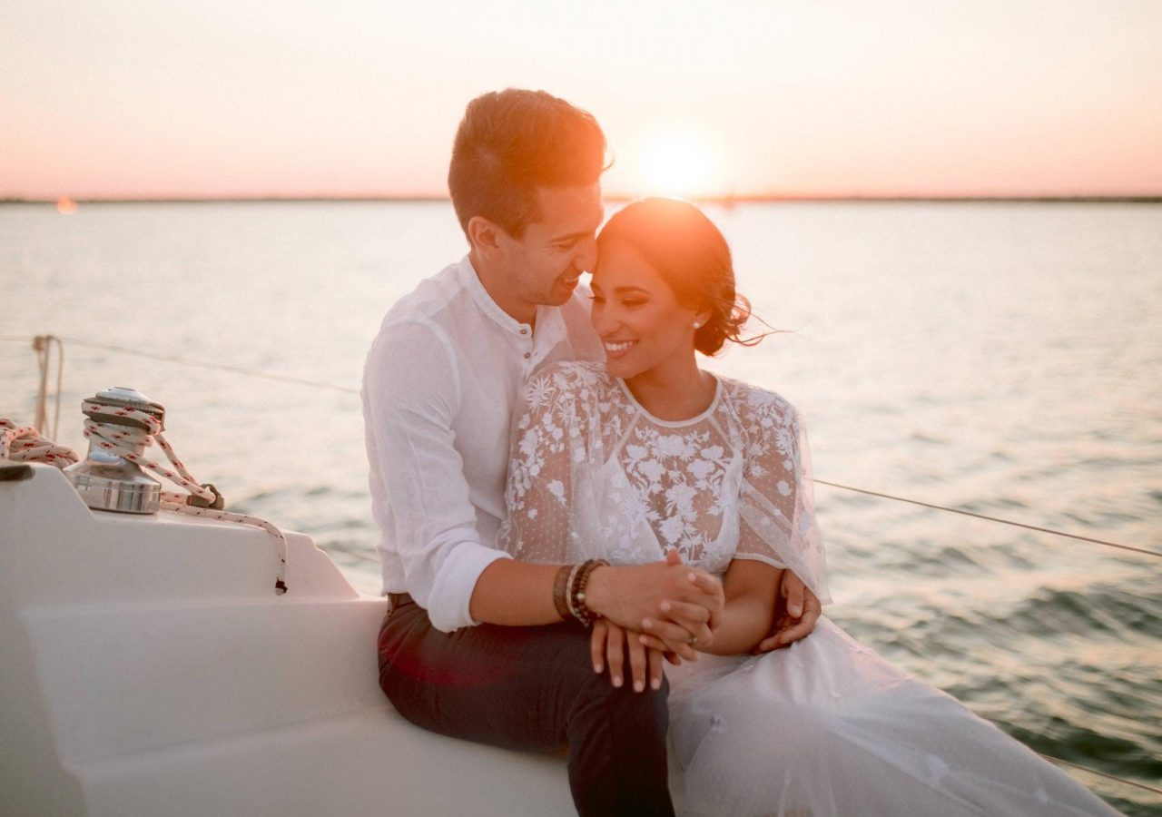 elopement session by the sea in Italy