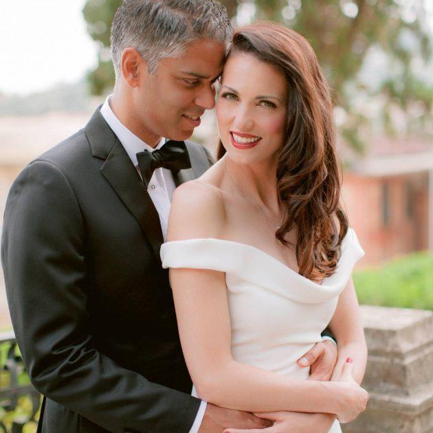 wedding photos at Villa Durazzo in Cinque Terre